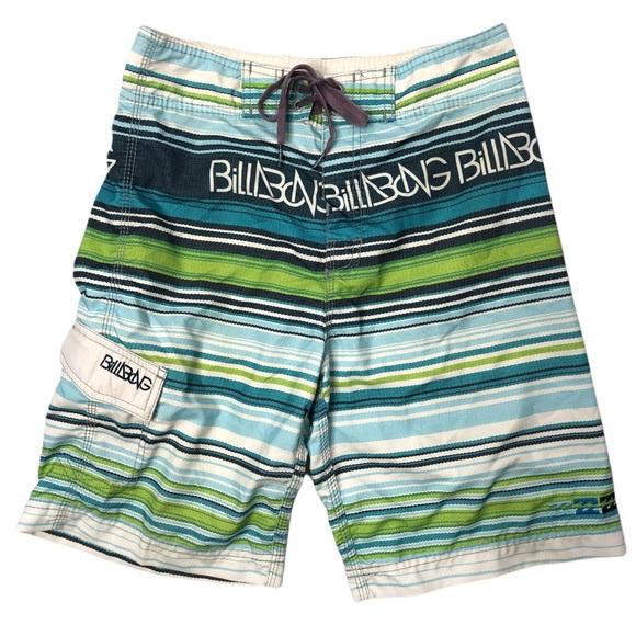 Billabong striped swim trunks,  size 28